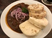 Beef Goulash & Bread Dumplings